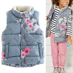 2-7Y Newborn Kids Baby Girls Winter Warm Outerwear Floral Co
