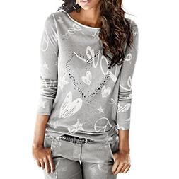 Wintialy 2018 Women's Long Sleeve Tops Letter Printed Shirt