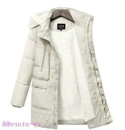 2020 Ladies Quilted Padded Puffer Lined Faux Fur Collar Warm