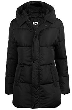 4HOW Women's Hooded Packable Puffer Down Jacket Winter Parka
