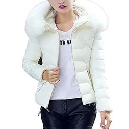 Amiley hot sale Christmas Winter Thick Jacket Fur Collar Coa