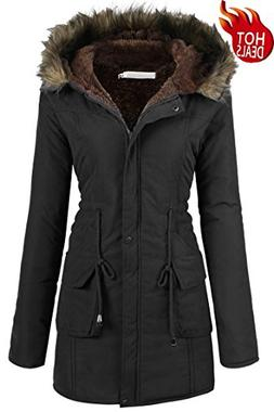 Beyove Womens Military Hooded Warm Winter Faux Fur Lined Par