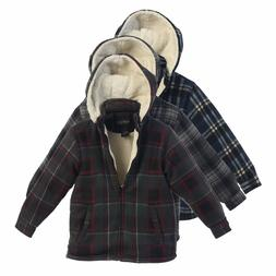 Boys Hoodie Jacket Kids Winter Warm Clothes Toddler Flannel