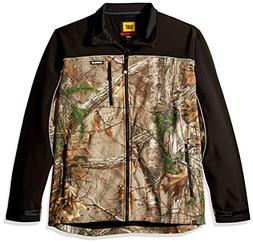 Caterpillar Men's Big and Tall Soft Shell Jacket, Realtree X