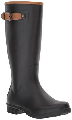 Chooka Women's Tall Memory Foam Rain Boot, Black, 8 M US