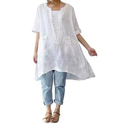 Clearance Women Shirt LuluZanm Fashion Loose Plus Size Irreg
