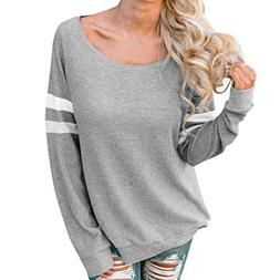 Clearance Womens Blouse LuluZanm Long Sleeve Sexy Tops Splic