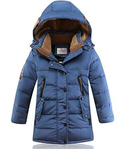 DUOCAI Boys Kids Winter Hooded Down Coat Puffer Jacket For B