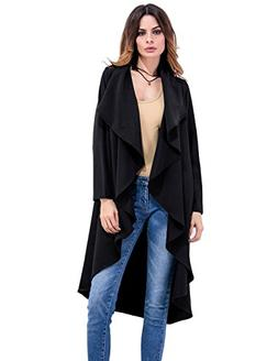 Grace Karin Women Long Sleeve Irregular Wide Lapel Lightweig