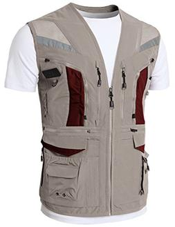 H2H Mens Work Utility Fly Fishing Photographer Travel Vest H
