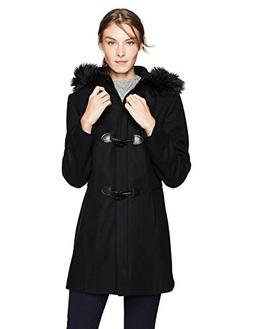 HAVEN OUTERWEAR Women's Toggle Wool Coat, Black/Black, Extra