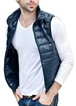 HENGJIA Men's Lightweight Packable Sleeveless Down Puffer Co