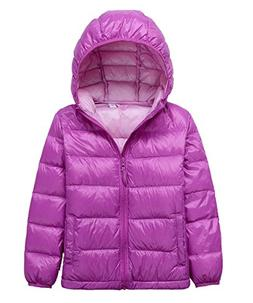 LANBAOSI Kid's Puffer Jacket Boy's Girl's Packable Hoodie Do