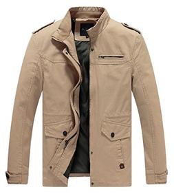 Lega Mens Cotton Classic Pea Coat Spring & Fall & Winter Our