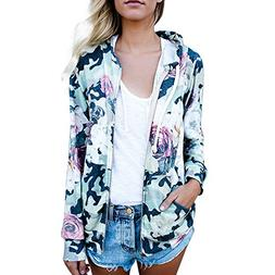 Makeupstore Womens Casual Blouse Coat,Floral Print Top Coat