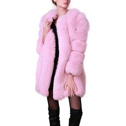 Manka Vesa Womens Winter Faux Fox Fur Plus Size Thick Long J