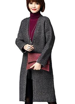 Minibee Women's Long Sweater Coat with One Button Style 2 Gr