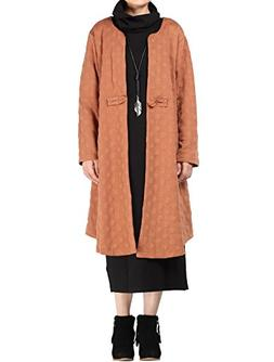 Mordenmiss Women's Long Sleeve One Button Trench Coat Orange