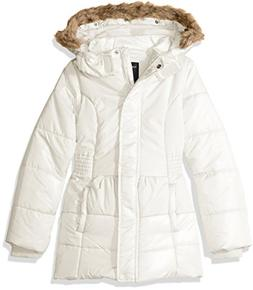 Nautica Baby Girls' Heavy Weight Shine Jacket with Faux Fur