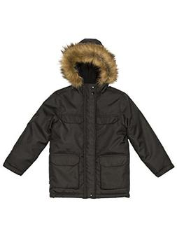 Nautica Big Boys Expedition Parka, Black, X-Large/18/20