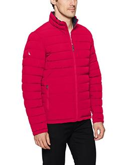 Nautica Men's Stretch Reversible Midweight Jacket, Red, XL