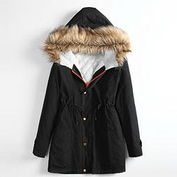 Susanny Womens Casual Outdoor Hooded Warm Winter Cotton Coat