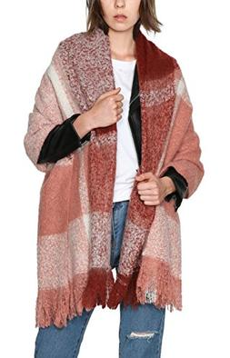 Urban CoCo Women's Cozy Color Block Long Shawl Wrap