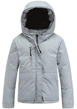 Valuker Boy's Puffer Jacket with Hood Winter Bubble Coat Gre