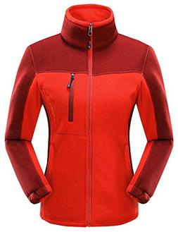 Vocni Women Fleece Coat Full Zip Winter Jacket