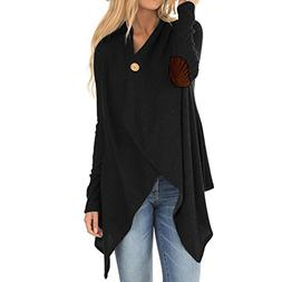 WEUIE Women Outwear Clearance Sale! Women Long Sleeve Patchw