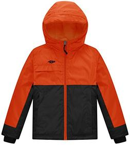 Wantdo Boy's Soft Fleece Lined Winter Jacket Raincoat with H