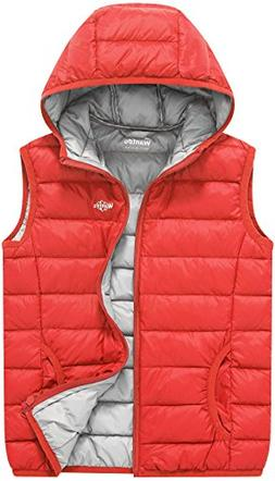 Wantdo Boy's and Girl's Light Weight Puffer Down Vest Winter