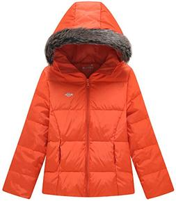 Wantdo Girl's Light Weight Casual Winter Jacket Hooded Down