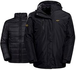 Wantdo Men's Winter Ski Jacket Water Resistant Windproof 3 i