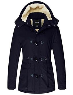 Wantdo Women's Winter Thicken Jacket Cotton Coat with Remova