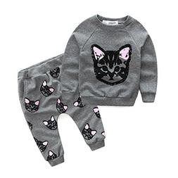 WeiYun Cute Baby Kids Set Autumn Winter Clothes Long Sleeve