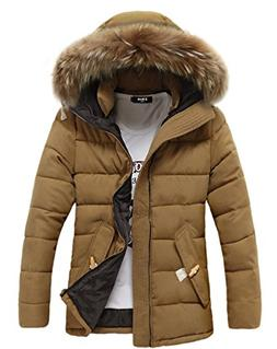 Womens Warm Hooded with Faux Fur Winter Parka Downs Puffer J