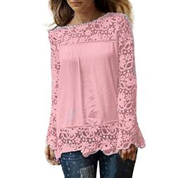 XJLUS-Apparel Lace Blouses for Women Long Sleeve Fashion 201