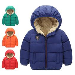 Toddler Kids Baby Boys Girls Winter Warm Hooded Furry Coat T