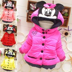 baby girls toddler kids mickey mouse hooded