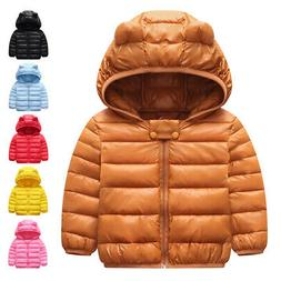 Winter Warm Outerwear Hooded Coat Kids Jacket Clothes Top To