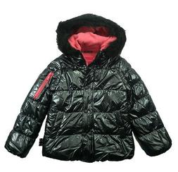London Fog Big Girls Grey Quilted Puffer Jacket Size 7/8 10/