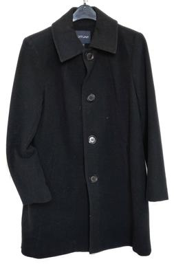 Nautica Black Wool Blend Winter Over Coat Size XL