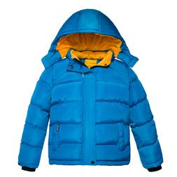 Wantdo Boy's Padded Winter Coat Thicken Warm Jacket with Det