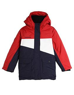 7d3e93fe1 Nautica Boys' Big Colorblock Snorkel Jacket, red Rouge
