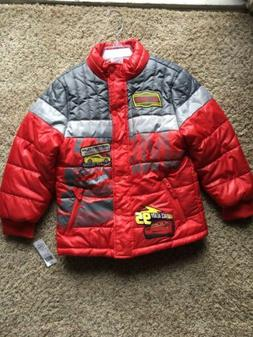 Boys-Winter Coat-Size 5/6-Disney / Pixar-Mostly Red-New