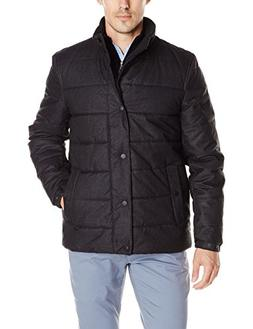 Nautica Men's Brushed Herringbone Jacket, Charcoal, M