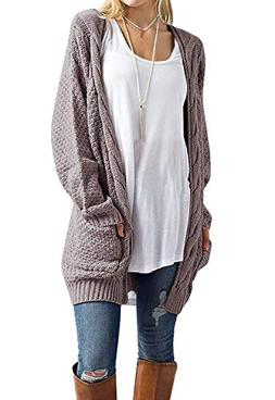 Inorin Womens Cardigan Sweaters Long Oversized Fall Knit Ope