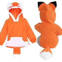 Franterd Kids Cartoon Fox Clothing, Baby Boy Girl Hooded Jac