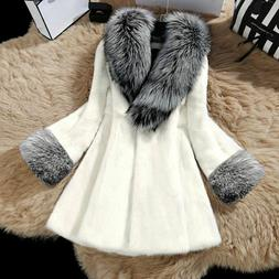 Casual Faux Furry Winter Coats Long Thick Warmer Full Overco